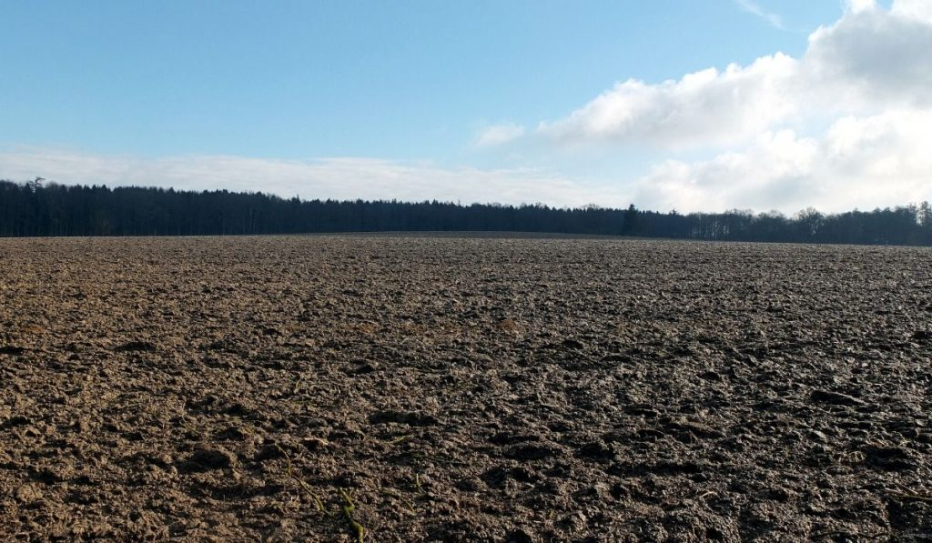 large field showing topsoil