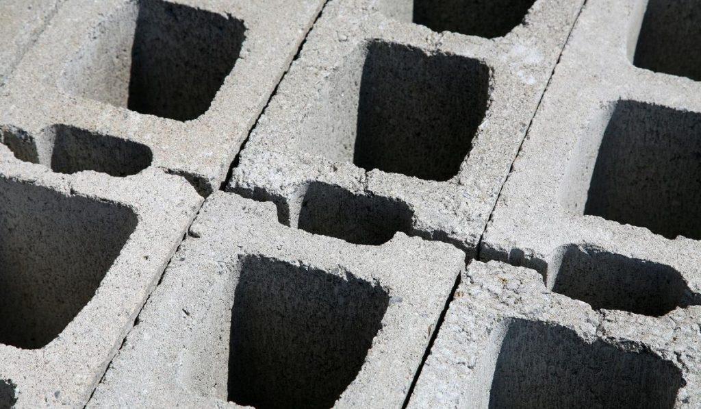 concrete block close up