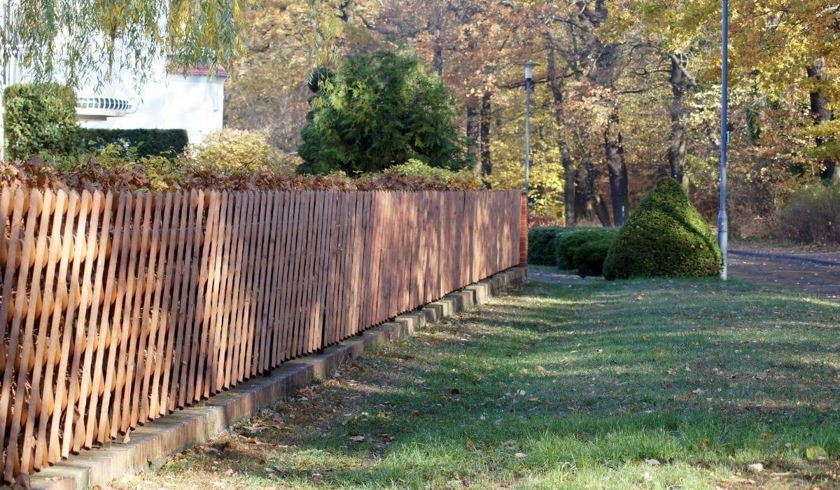 Wooden garden fence