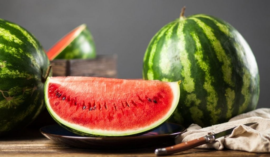 Ripe juicy watermelon