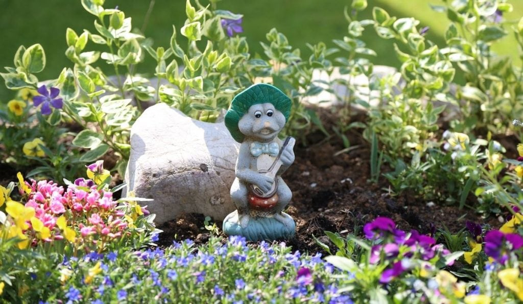 Garden Gnome Playing Guitar