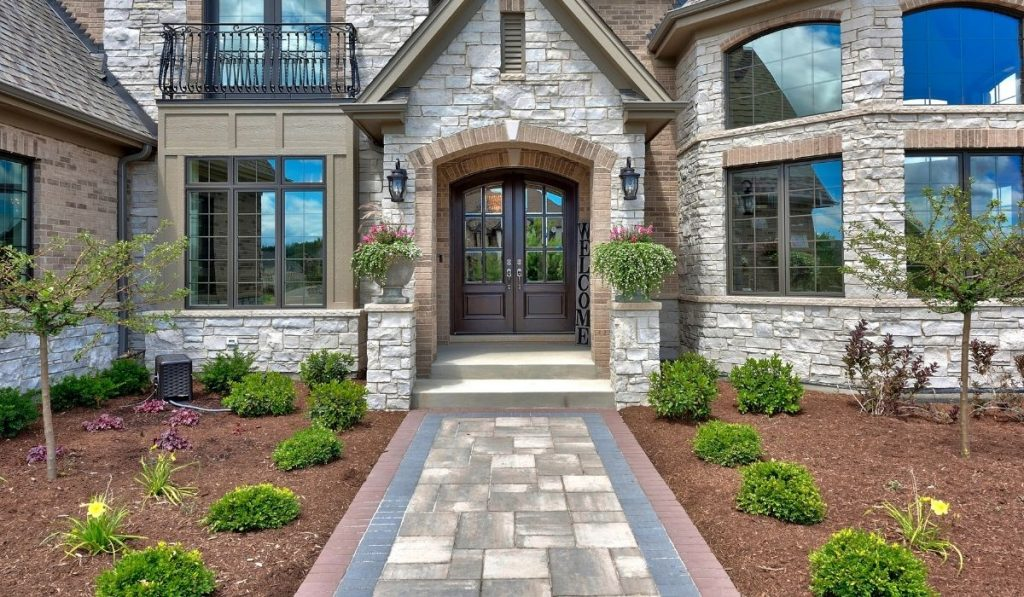 front walkway adding value to the property