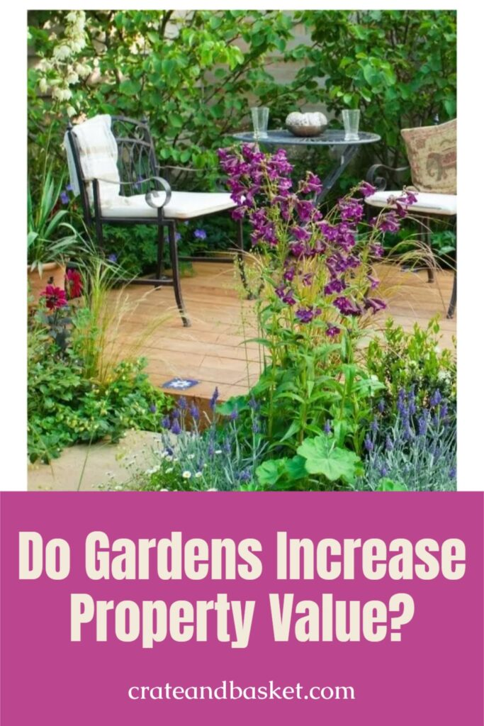 pinterest image - do gardens increase property value