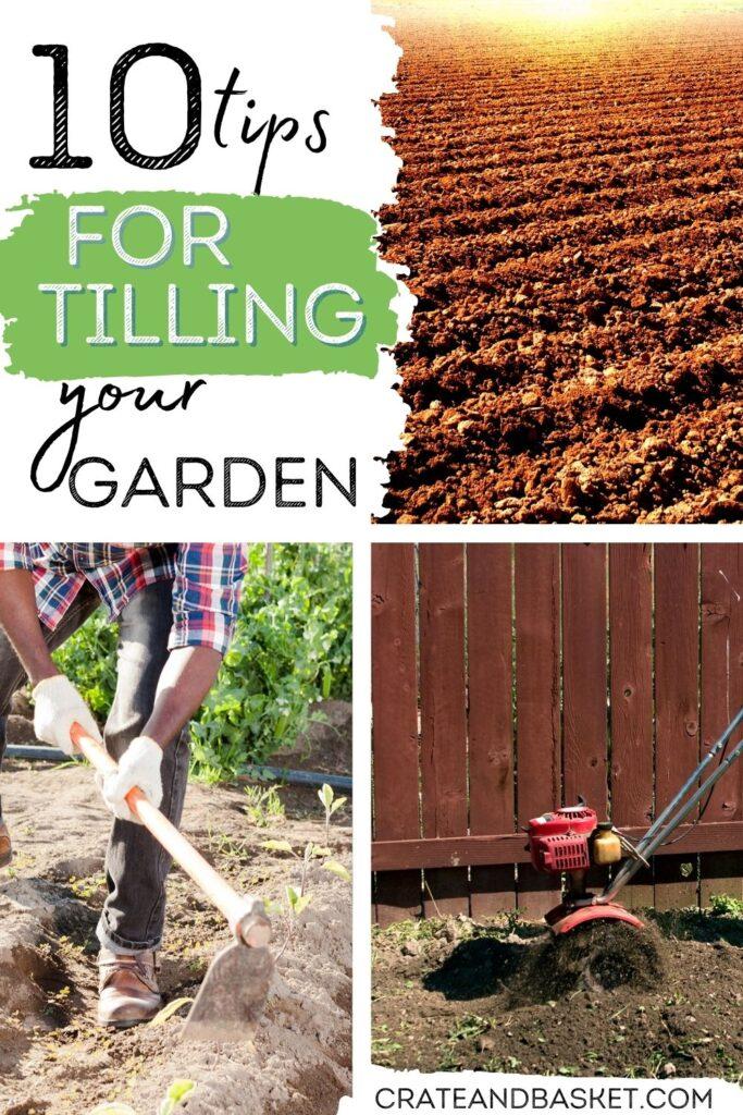 pinterest image - garden tilling