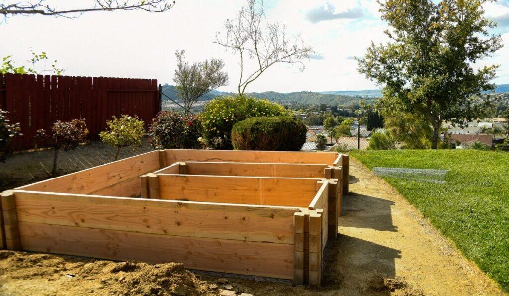 Wood Frame Raised Bed Garden